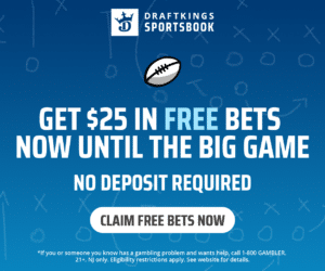 DraftKings Free $25 Bet Promo | NJ Sports Betting Bonus No
