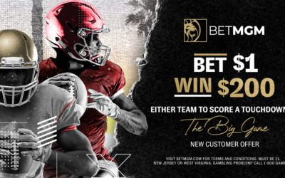 "BetMGM ""Big Game"" Promo: Turn $1 into $200 With 1 Touchdown"